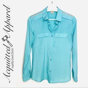 Maison Scotch & Soda Silky Blue Button Up Shirt